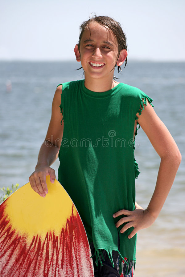 Portret 2 van de Jongen van Surfer stock afbeeldingen