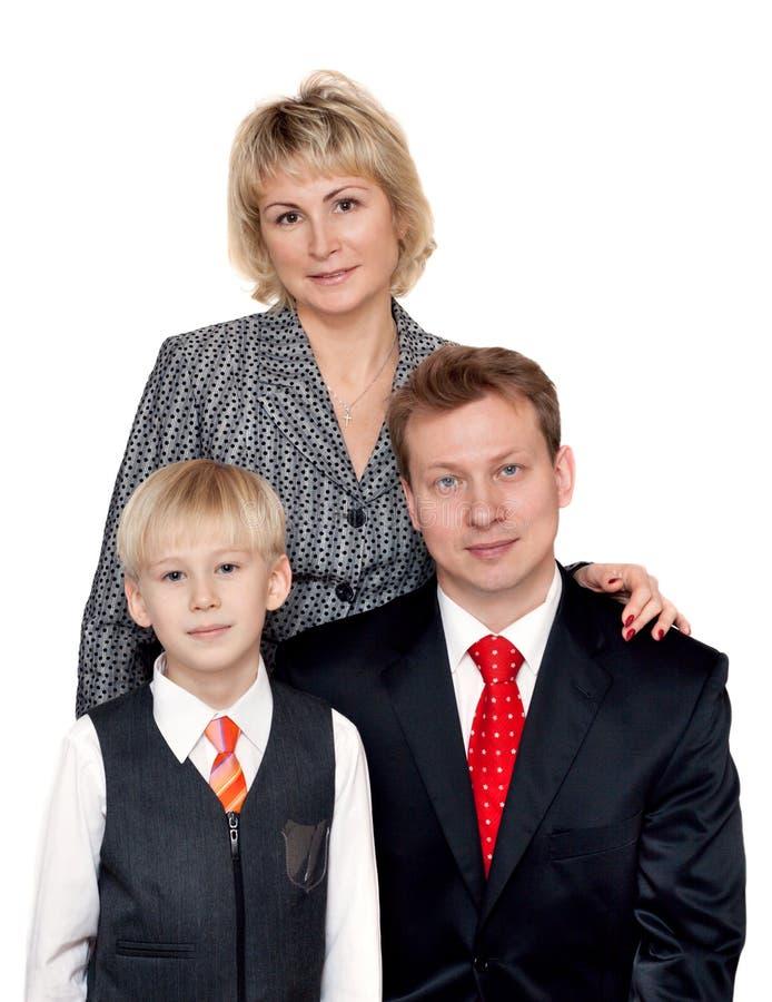 Portret aan families stock fotografie