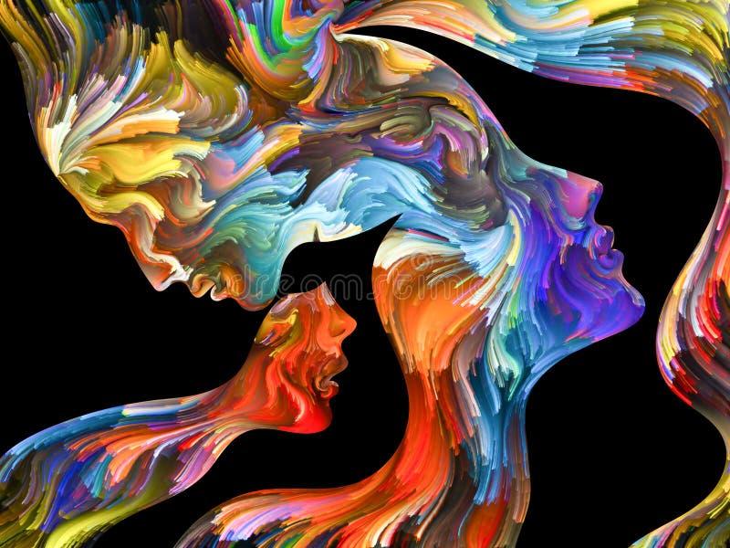 portret abstrakcyjne zdjęcie royalty free