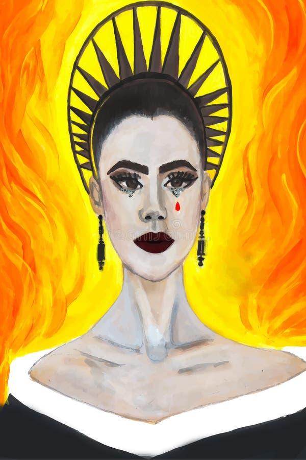 Portret aktorki leluja Collins przy Spotykającym Gal przedstawieniem 2018 ilustracji