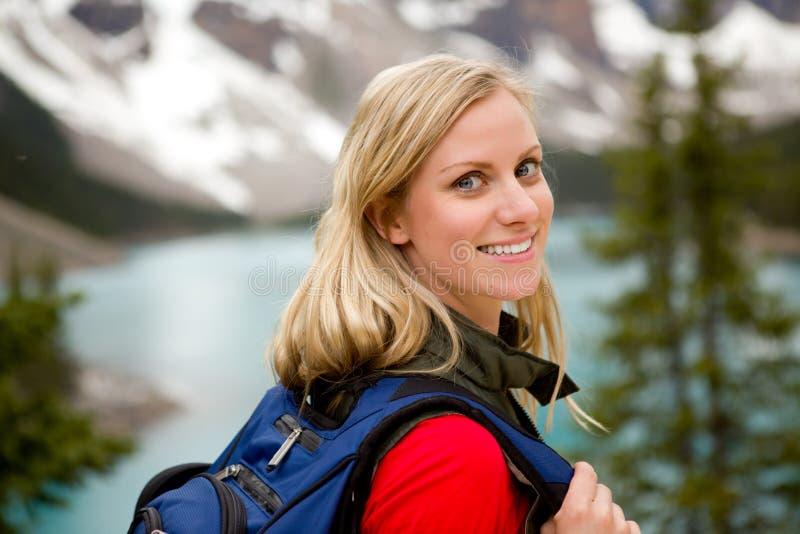 portret aktywna kobieta zdjęcie stock