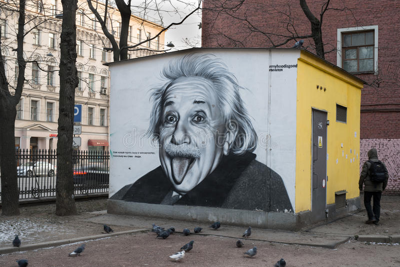Portret Albert Einstein fotografia royalty free