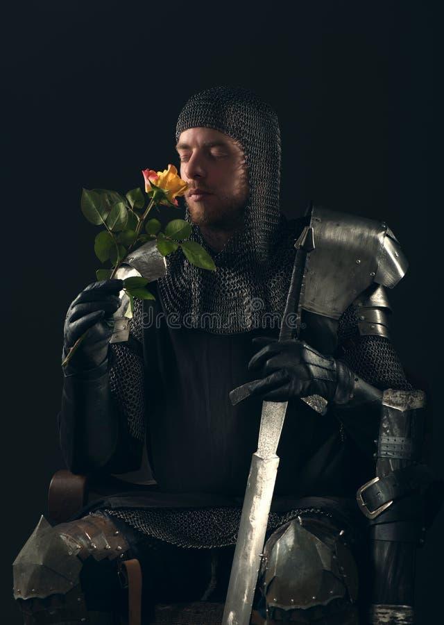 Download Portret antyczny rycerz obraz stock. Obraz złożonej z talerz - 53781137