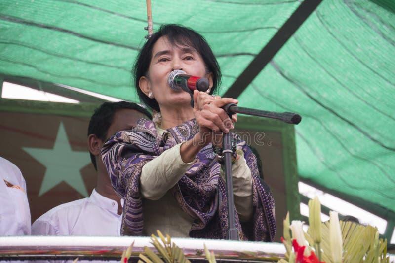 Portret Aung San Suu Kyi zdjęcia stock