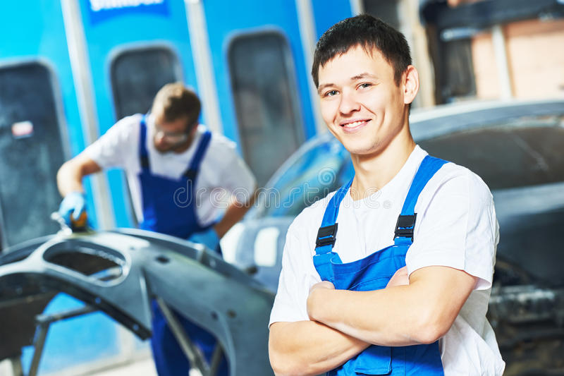 Portret auto mechanika pracownik obraz royalty free