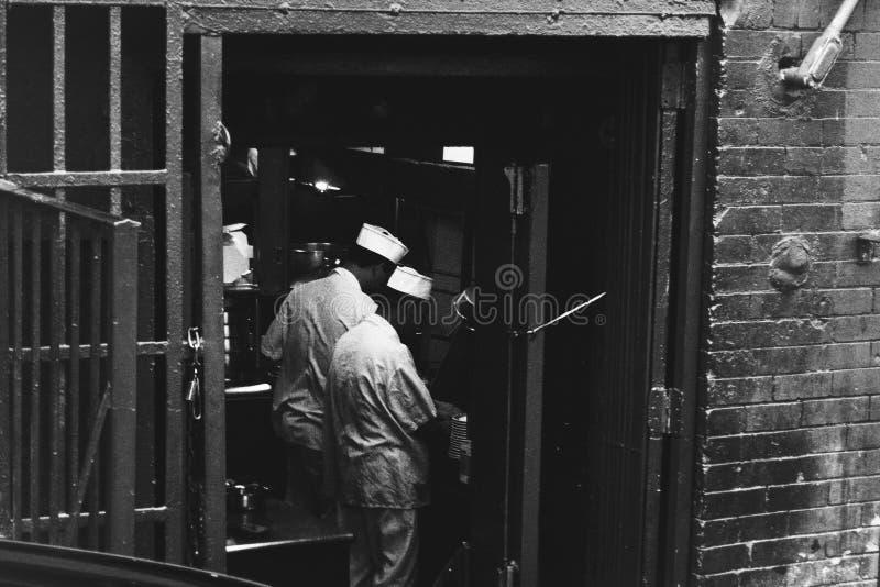 Portret azjata kucharzi w Chinatown, Nowy Jork zdjęcie stock