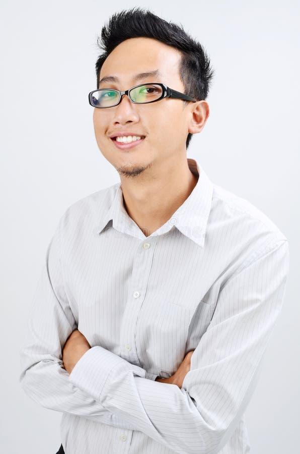 Portret Azjatycka biurowa chłopiec fotografia royalty free