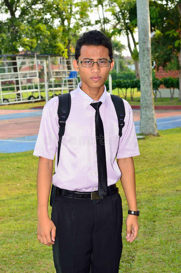 Portret Azjatycki student collegu fotografia stock