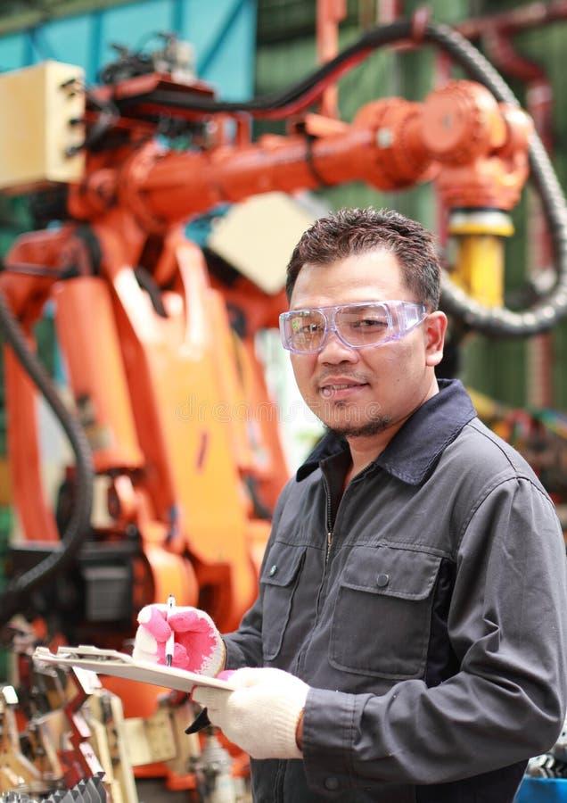 Portret azjatykci inżynier obrazy royalty free