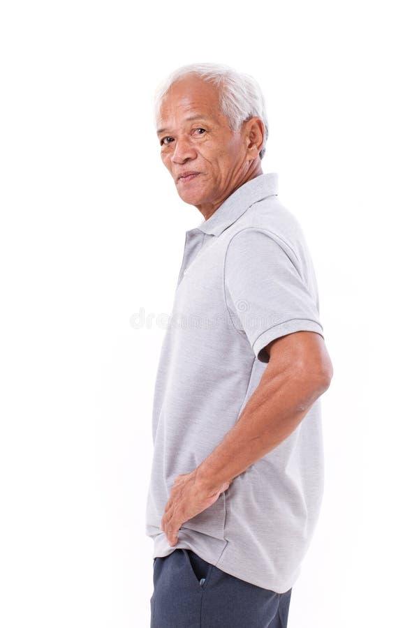 Portret azjatykci starszy stary człowiek zdjęcie royalty free