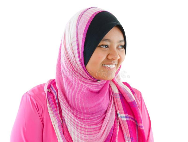Portret Azji Południowo Wschodniej Muzułmańska dziewczyna fotografia royalty free