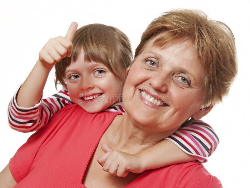 Portret babcia i wnuczka zdjęcie stock