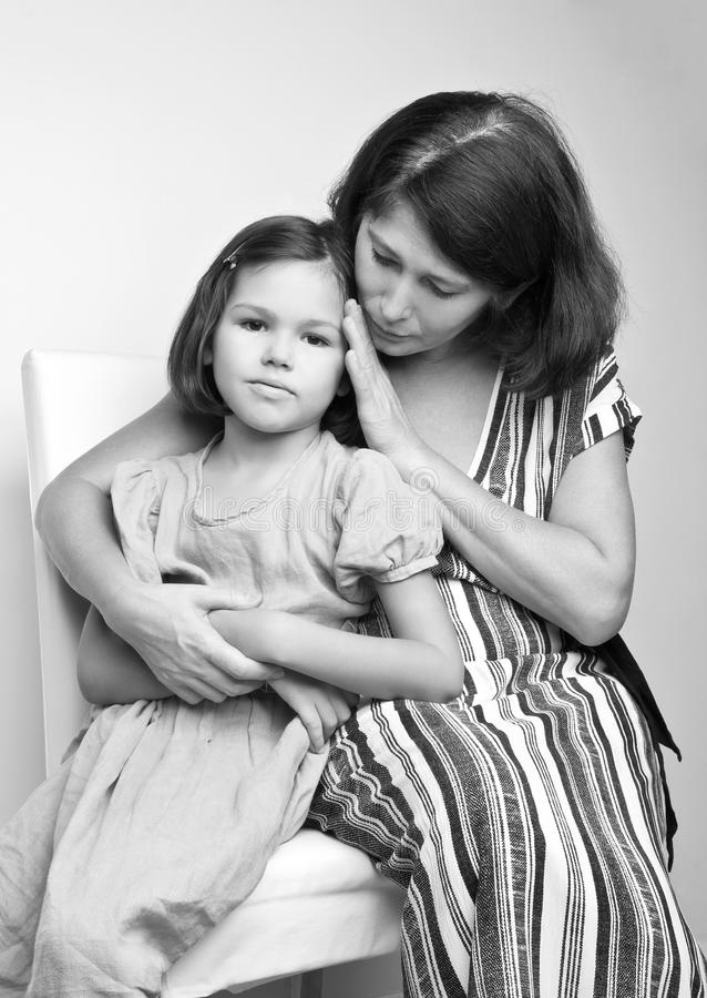 Portret babcia z jej wnuczką obraz royalty free