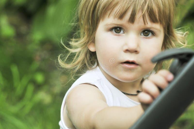 Portret bardzo słodki małe dziecko fotografia royalty free