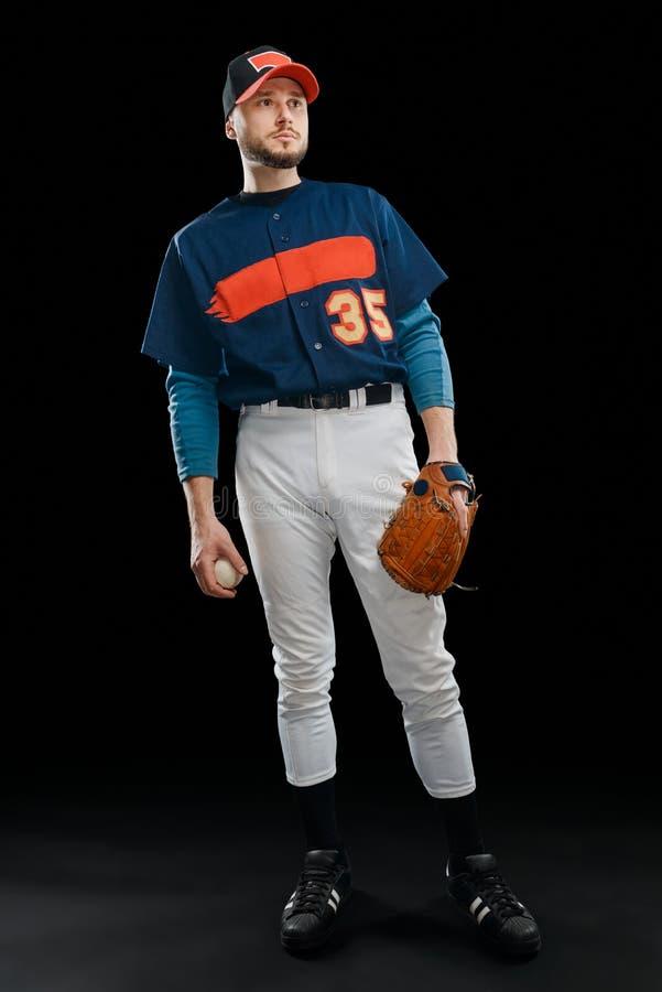 Portret baseballa miotacz obrazy royalty free