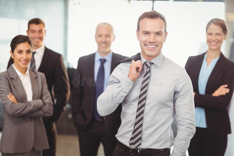 Portret biznesmenów ono uśmiecha się obraz royalty free