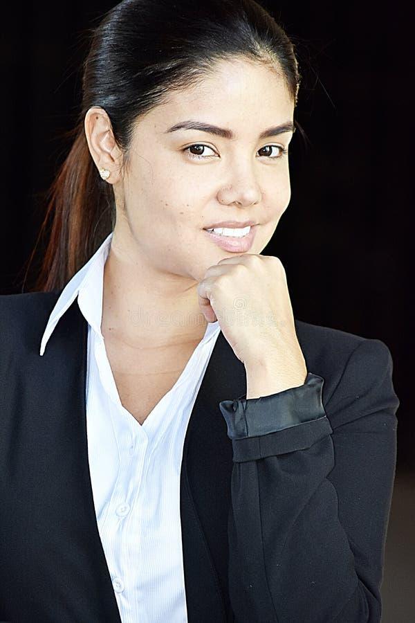 Portret Biznesowa kobieta Jest ubranym kostium fotografia royalty free