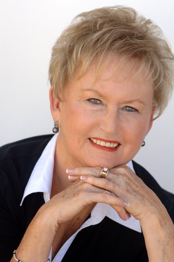 portret biznesowa stara kobieta zdjęcia stock