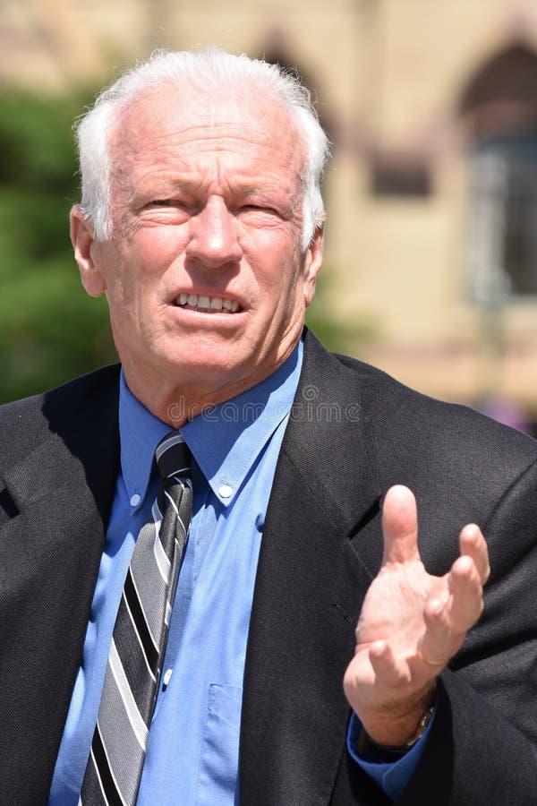 Portret Biznesowy mężczyzna Jest ubranym garnitur obraz stock