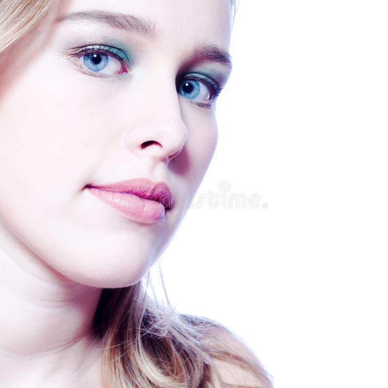 Portret in blauw royalty-vrije stock afbeelding
