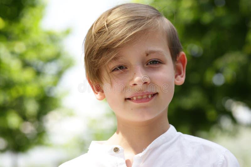 Portret blond chłopiec obraz royalty free