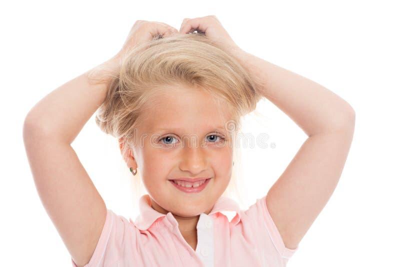 Portret blond dziewczyna zdjęcia stock