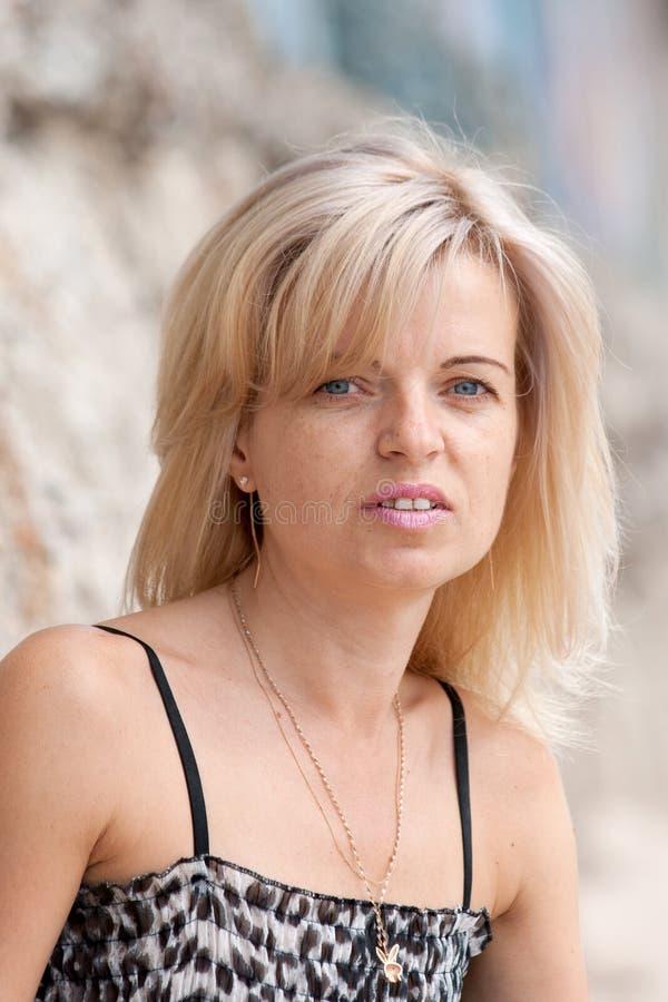 portret blond kobieta zdjęcie stock