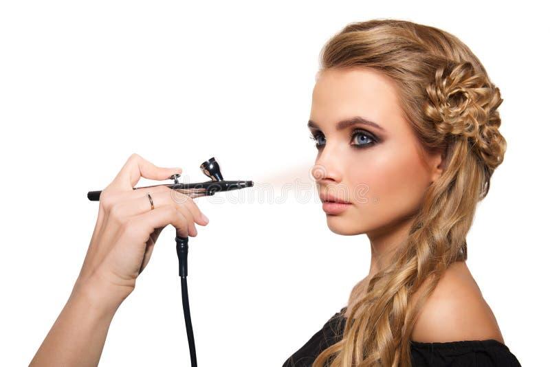 Portret blondynki piękna młoda kobieta zdjęcie stock