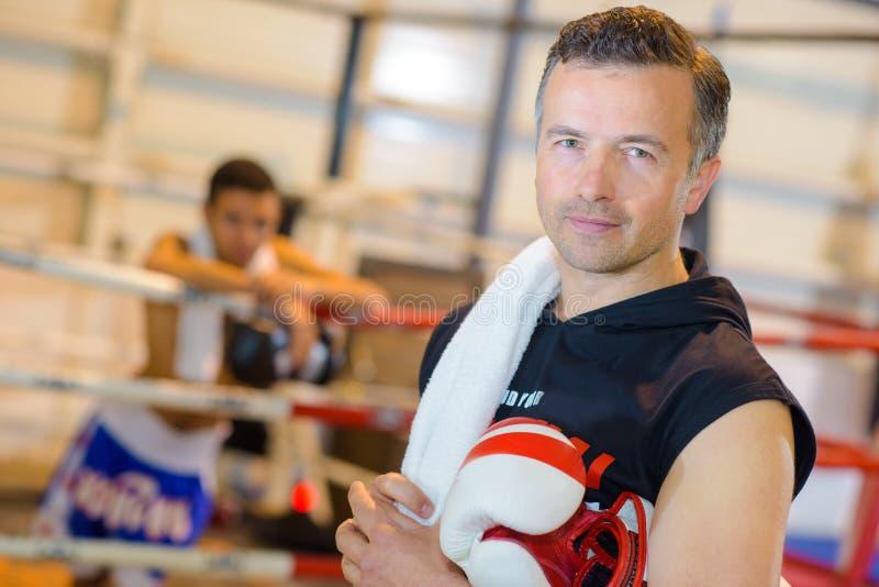 Portret boksu trener obraz royalty free