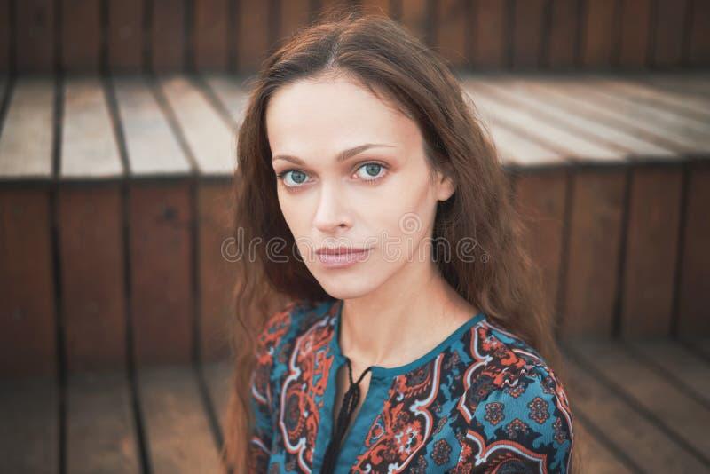 Portret brunetki zdjęcia royalty free