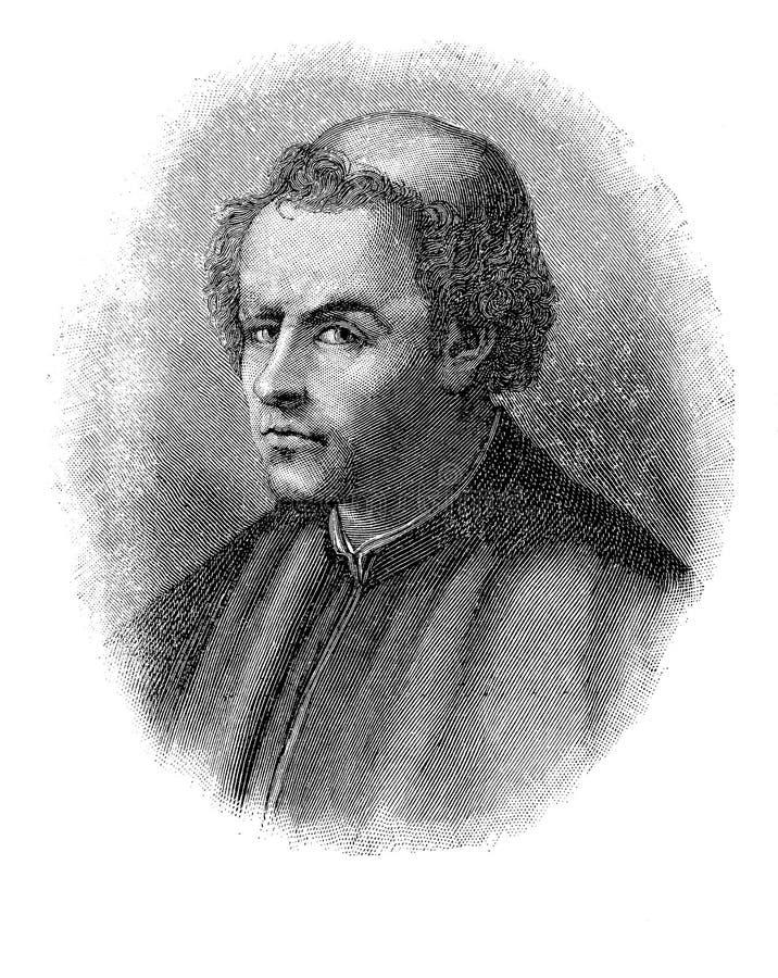 Portret Burchiello włoszczyzny poeta ilustracja wektor