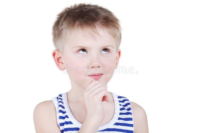 Download Portret Chłopiec W Pasiastym Singlet Obraz Stock - Obraz złożonej z dziecko, chłopiec: 28968937