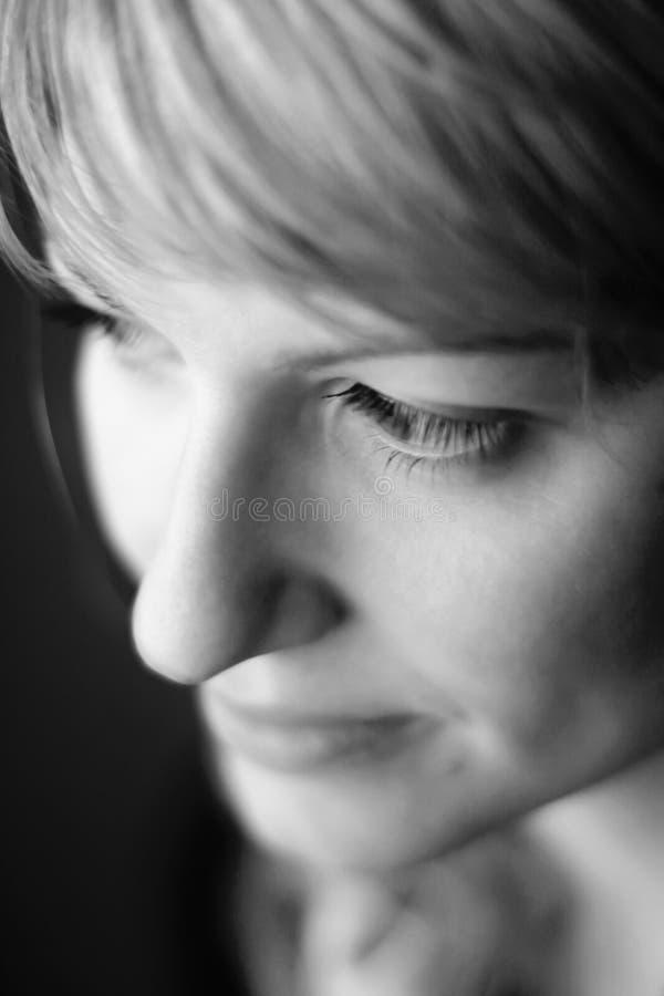 portret czarny biała kobieta obraz royalty free