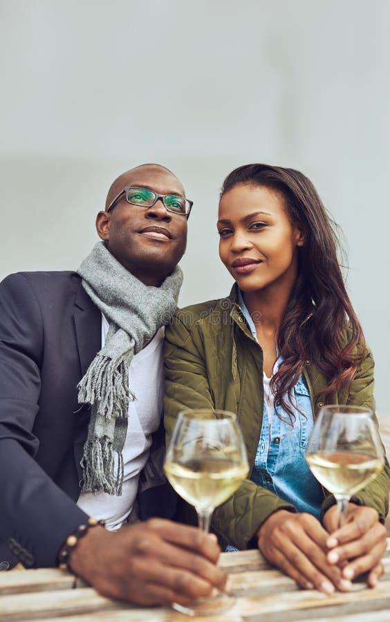Portret czarny pary datowanie obrazy royalty free