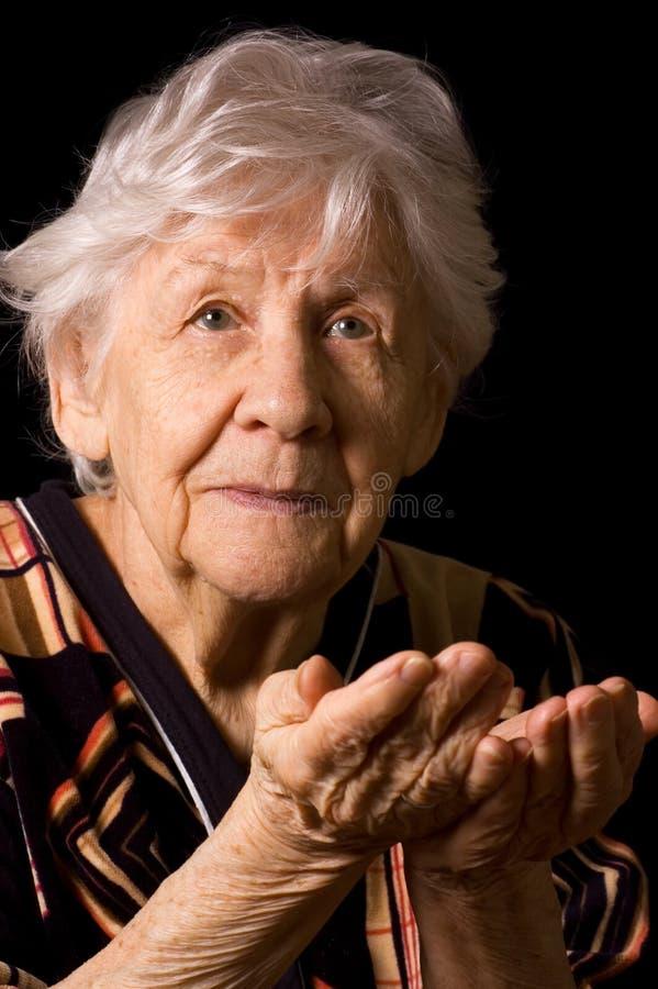 portret czarny stara kobieta zdjęcie stock