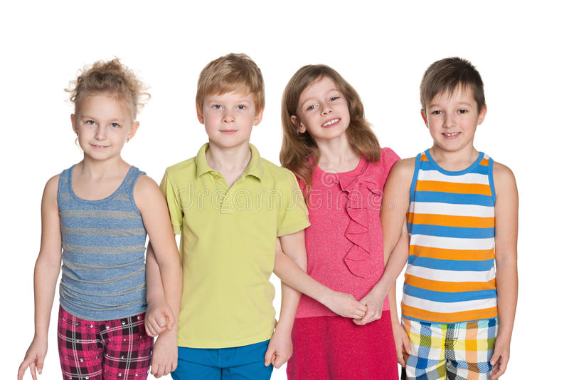 Portret cztery dziecka zdjęcia royalty free