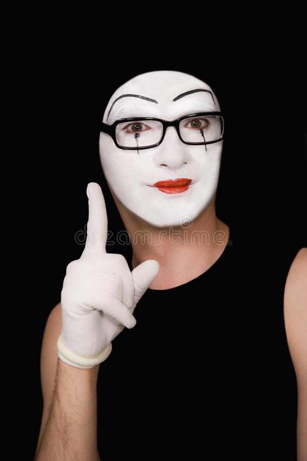 Portret del mime fotografie stock