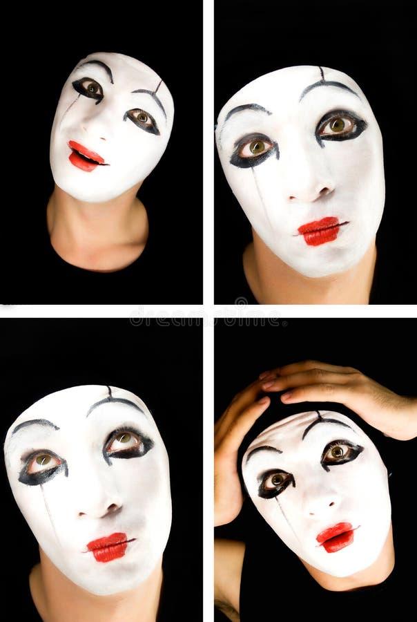 Portret del mime immagini stock