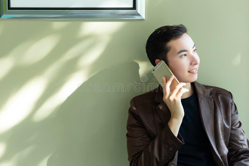 Portret die knappe succesvolle zakenman charmeren: Aantrekkelijk Ha stock afbeelding