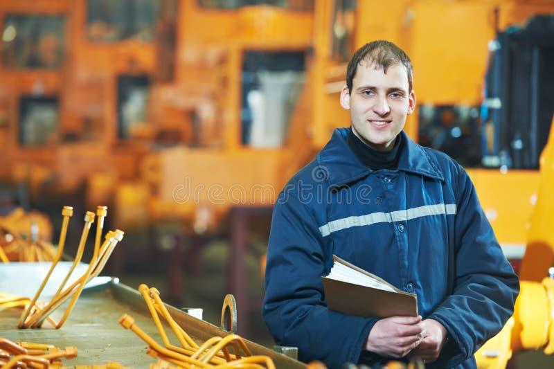 Portret doświadczony przemysłowy inżynier zdjęcia royalty free