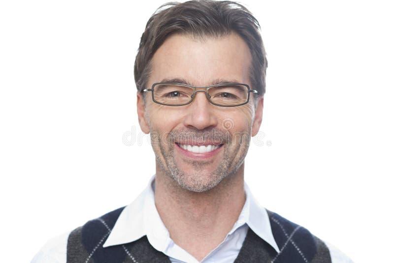 Portret Dojrzały mężczyzna ono Uśmiecha się Przy kamerą obraz royalty free