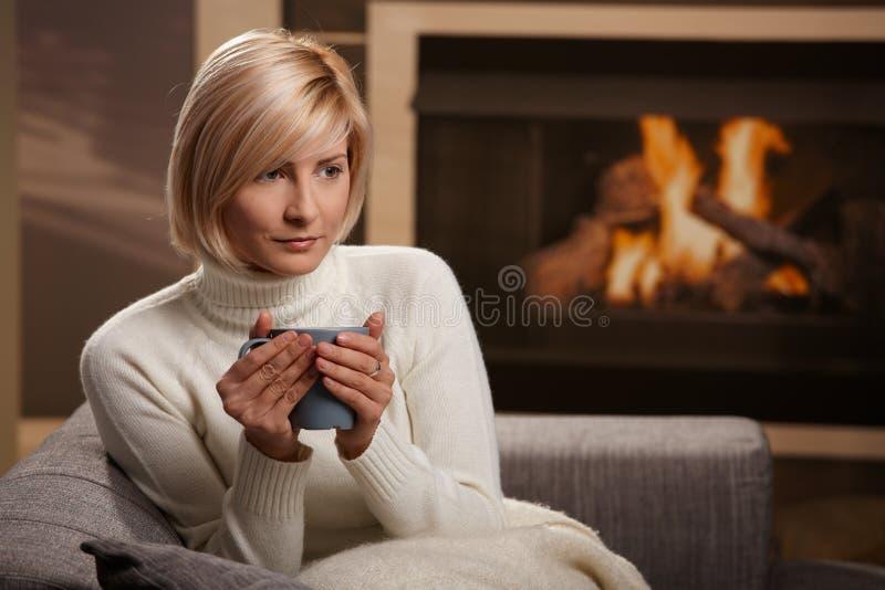 portret domowa zima zdjęcie stock