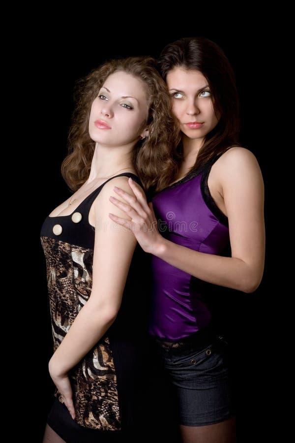 portret dosyć dwa kobiety fotografia royalty free