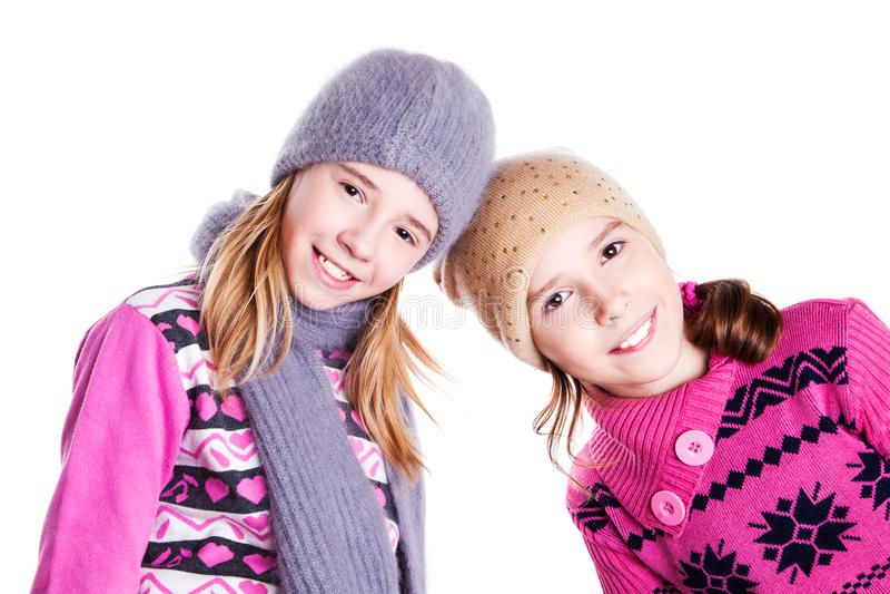 Portret dwa młodej pięknej dziewczyny obraz royalty free