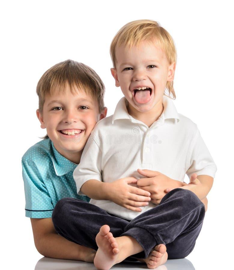 Portret dwa szczęśliwy brat fotografia royalty free