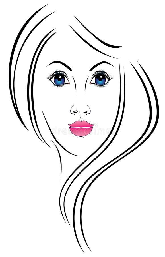 Portret dziewczyna royalty ilustracja
