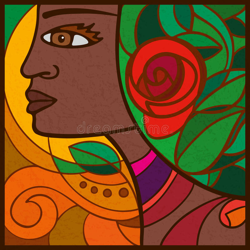 Portret dziewczyna od przylądka Verde, Afryka