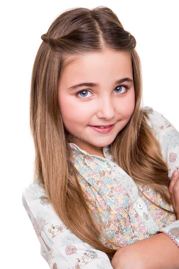 Portret dziewczyna troszkę obrazy royalty free