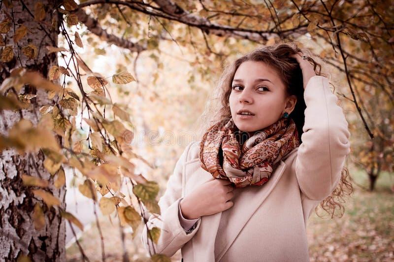 Portret dziewczyna w jesieni zdjęcia royalty free
