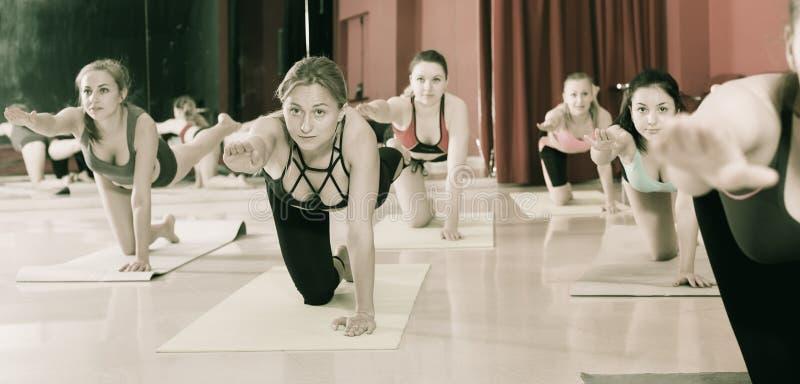 Portret dziewczyny ćwiczy joga fotografia royalty free